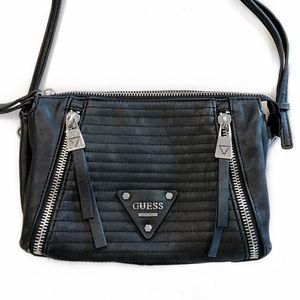 [Guess] Quilted Zip Crossbody Bag